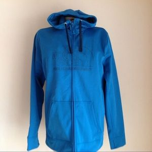 New The North Face Mens blue sweaterFull zip