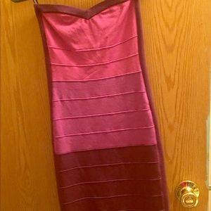 A small Bebe mini dress