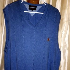 Tommy Hilfiger Vest sz XL Vintage blue 100% Cotton