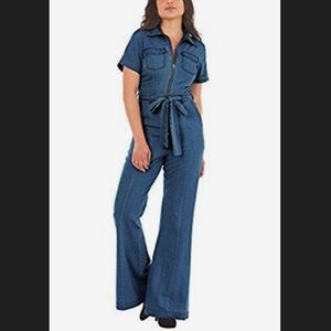 New Eshakti Vintage Chambray Denim Jumpsuit 20W