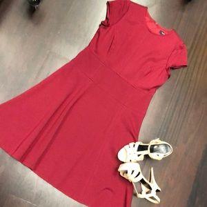NANETTE LEPORE BURGUNDY DRESS