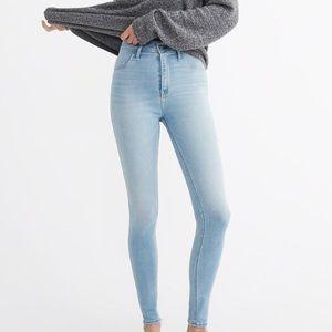 Abercrombie HiRise Light Wash Jeans