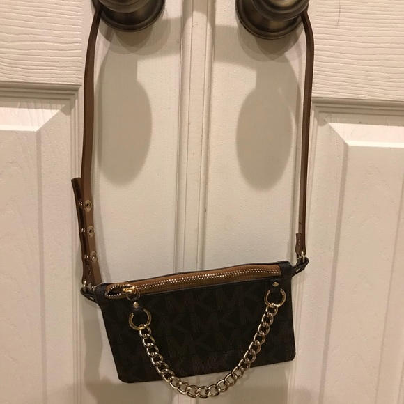 MK Belt Bag with pull chain. M 5a174f0d7fab3abbfe040595. Other Bags you may  like. Michael Kors mini bag b20ab0a6a34b2