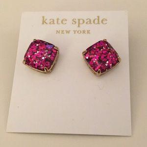Kate Spade Pink Glitter Earrings