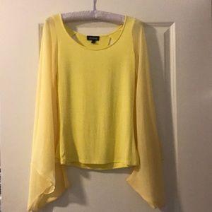Yellow Bebe top