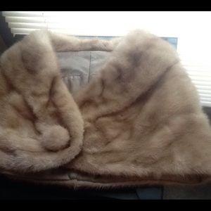 Mink fur shoulder wrap