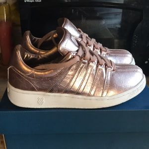 Rose gold K Swiss sneakers