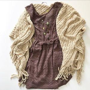 🆕 Urban Outfitters Mauve Crochet Dress Size M