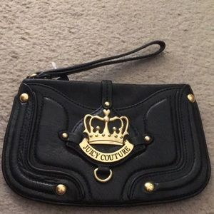 Juicy Couture Black Leather Wristlet