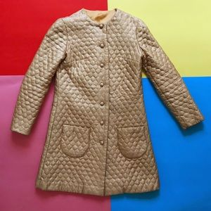 Vintage 60s Mod Lame Gold Coat