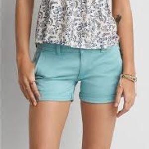 AEO turquoise shorts
