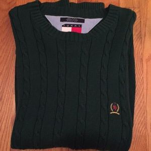 Tommy Hilfiger Green Cable Sweater