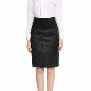 Alexander Wang Sheepskin Pencil Skirt