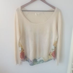 Anthro Moth Floral Sweater (XS)