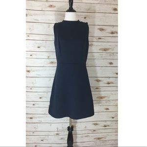 LOFT Navy Blue Sleeveless Dress