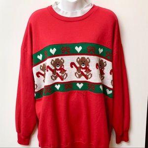 Vintage Christmas Teddy Bear Sweatshirt