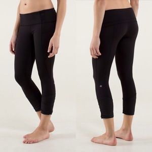 Lululemon reversible Wunder under crops black