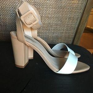 Zara two tone block heel sandals