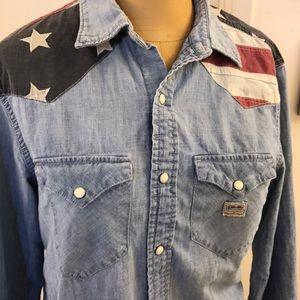 af49b7dc76 Denim   Supply Ralph Lauren Tops - Ralph Lauren Denim 🇺🇸 American Flag  Cowboy shirt