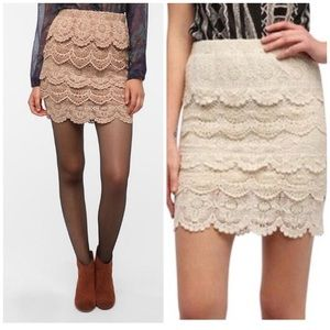 {UO} staring at stars lace skirt