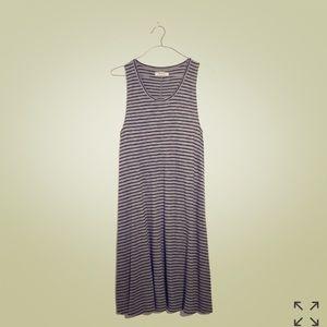Madewell-Highpoint Tank Dress- Stripe
