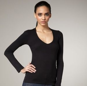 SPLENDID Long Sleeved V-neck Tee sz L