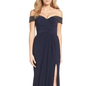 Xscape Size 2 Navy Gown worn 1x