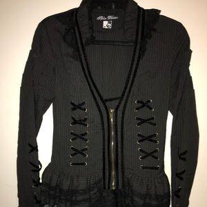 Spin Doctor Black Steam Punk Jacket size Medium