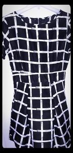 BEAUTIFUL comfortable blk/white patterned dress