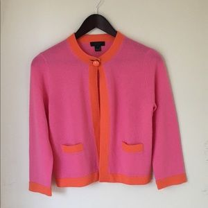 J. CREW Collection Cashmere Cardigan Pink S