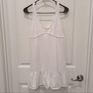 White Cotton Dress Medium