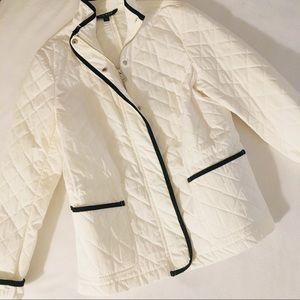 Ralph Lauren Quilted White Spectator Riding Jacket