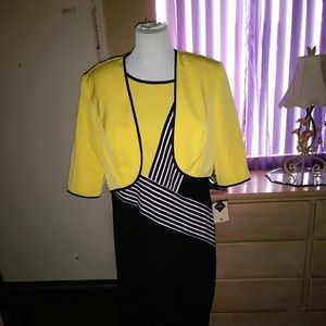 BLACK/YELLOW DRESS BNWT