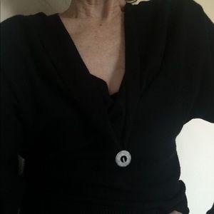 Anne Klein sweater, low neckline