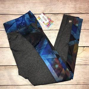 NWT LuLaRoe Jordan workout leggings (gray/blue)
