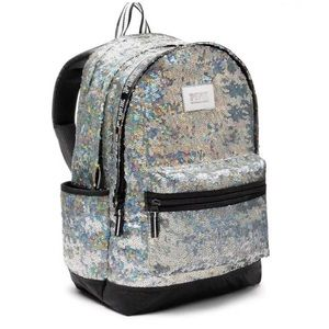 Iridescent Holographic Sequin Bling Backpack