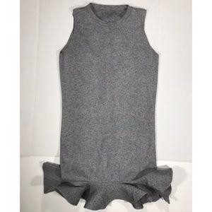 {Alice's} Boutique Gray Sleeveless Ruffle Dress