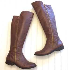 Steve Madden Shandi tall brown leather knee boots