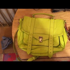 Proenza Schouler Line Green Large Ps1 carry all