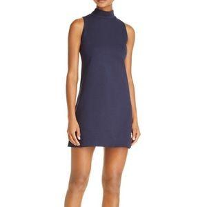 Bloomingdales Aqua mockneck sleeveless dress small