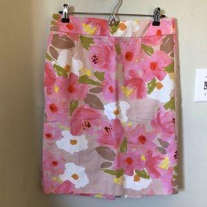 NWOT J. Crew Floral Pencil Skirt, Sz 6