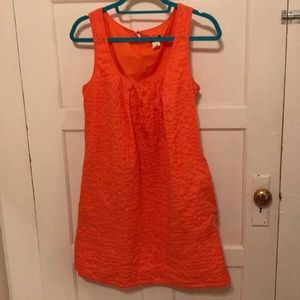 Precious J. Crew coral summer dress with pockets