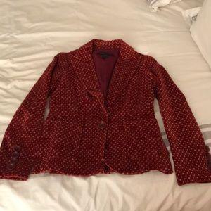 Marc Jacobs crushed red velvet jacket (Sz 4)