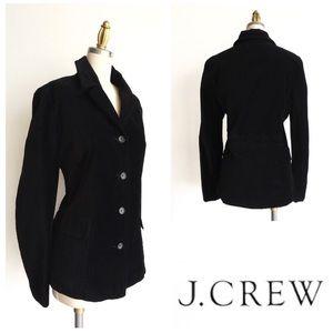 J Crew Black Velvet School Boy Blazer