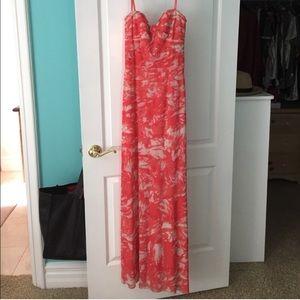 Floor length bcbg maxazria dress size 2