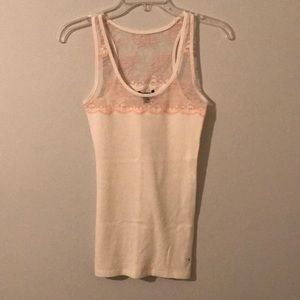 Pink&White Lace Tank Top