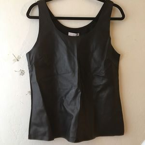 NWT Black Faux Leather/Pleather Tank Sz M