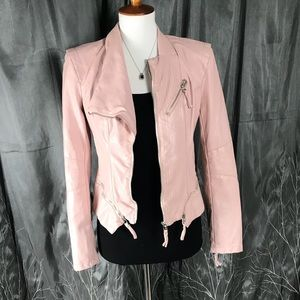 💥Blank NYC blush pink faux leather jacket