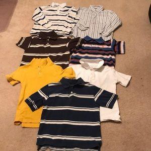 Other - Boys 7 8 Collar Polo Shirt Bundle Lot 7 Shirts
