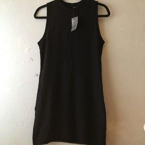 NWT Ribbed Black H&M Divided Sleeveless Dress Sz M